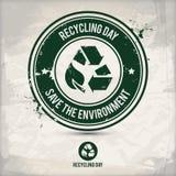 Alternativ återvinningdagstämpel Arkivbilder