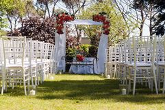 Alternativ bröllopceremoni Royaltyfria Foton