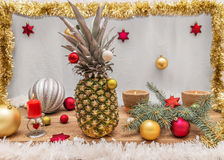 Alternativ dekorerad julgran Fotografering för Bildbyråer