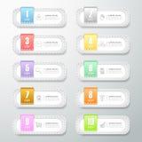 Alternativ för designtappningbaner 10 Royaltyfri Fotografi
