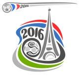 Alternativ logo av europeisk fotboll Arkivbild