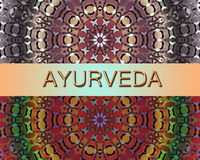 Alternativ medicin för Ayurvedic design Royaltyfri Fotografi