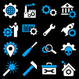 Alternativ och uppsättning för servicehjälpmedelsymbol Royaltyfri Bild