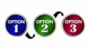 Alternativ 1 primaa bästa beslut 2 3 ett två tre royaltyfri illustrationer
