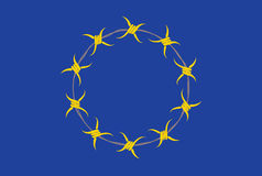 Alternativa da bandeira da União Europeia Foto de Stock Royalty Free