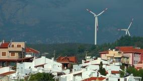 Alternativa di energia del mulino di vento archivi video