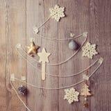 Alternative Christmas tree made from yarn Stock Photo