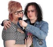 Alternative couple Stock Image
