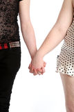 Alternative couple holding hands together Stock Image