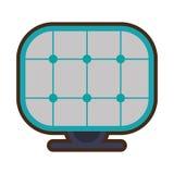 Alternative d'énergie de panneau solaire Image stock
