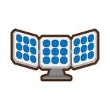 Alternative d'énergie de panneau solaire Images libres de droits