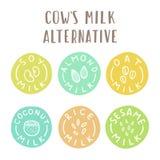 Alternative de lait de vaches illustration de vecteur