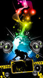 Alternative Disco Flyer for International Event Royalty Free Stock Photography