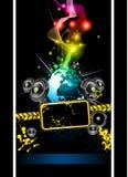 Alternative Disco Flyer for International Event Stock Images