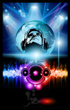 Alternative Discoteque Music Flyer. With Attractive Rainbow Colours Stock Photos