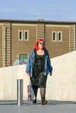 Alternative dressed girl with red hair, Tilburg, Netherlands Stock Photos