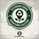 Alternative eco energy stamp Royalty Free Stock Photos