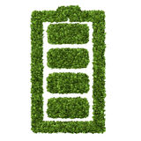 Alternative ecology battery concept with white background Royalty Free Stock Photo
