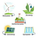 Alternative Eenergy Source Set Vector Illustration Stock Image