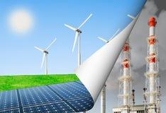 Alternative Energie und die Umgebung stockfotografie