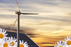 Alternative energies Royalty Free Stock Photos