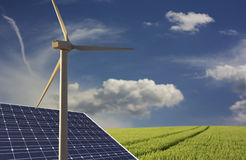 Alternative energies Royalty Free Stock Images