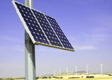 Alternative energies. In the countryside royalty free stock image