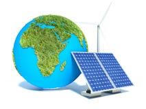 Alternative Energy. Isolated on white Royalty Free Stock Image