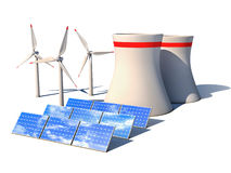 Alternative energy 3d concept Stock Photo