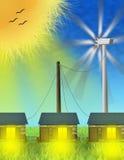 Alternative Energy. Representative picture of the use of alternative energies Stock Image