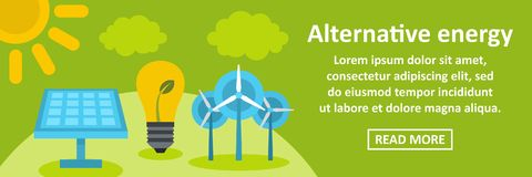 Alternative energy banner horizontal concept Stock Images