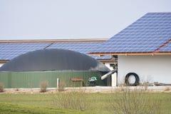 Alternative Energy with Bio Gas Stock Image
