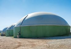 Alternative Energy with Bio Technology. Facility for bio energy production royalty free stock images