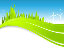 Alternative energy Border Stock Image