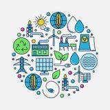 Alternative Energy circular sign Royalty Free Stock Image