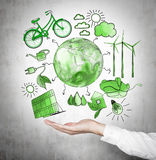 Alternative energy, clean environment Stock Image