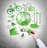 Alternative energy, clean environment Royalty Free Stock Photo