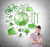 Alternative energy, clean environment stock illustration