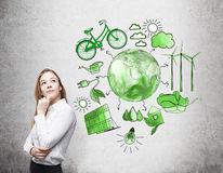 Alternative energy, clean environment Royalty Free Stock Images