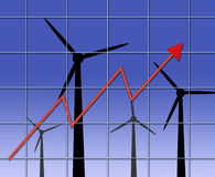 Alternative energy costs Stock Images