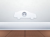Alternative energy electric car Royalty Free Stock Images