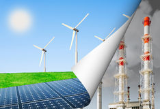 Alternative energy and the environment Stock Photography