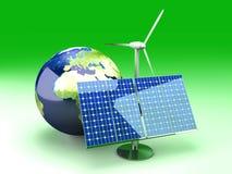 Alternative Energy - Europe royalty free illustration