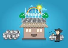 Alternative energy home Stock Photography