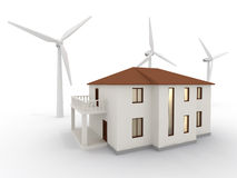 Alternative Energy House Royalty Free Stock Photography