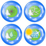 Alternative Energy Icon Set Royalty Free Stock Image