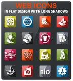 alternative energy icon set Stock Photo