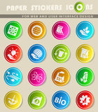 alternative energy icon set Royalty Free Stock Images