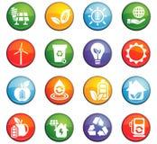 alternative energy icon set Royalty Free Stock Image