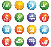 alternative energy icon set Stock Photography